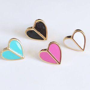 Kate Spade Enamel Heart Earrings
